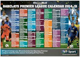 Premier League Wall Chart Premier League Is Almost Here Download Your Mail On