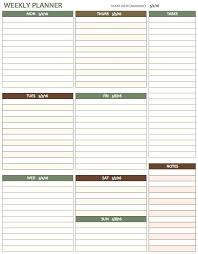 Weekly Calendars With Hours Weekly Calendar Templates Week Long Template With Hours