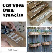 cut your own stencils if you can t stencils for furniture and walls