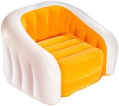 intex 68597 inflatable junior café club chair yellow white