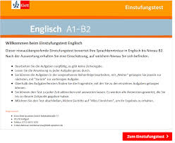 Einstufungstests Englisch Einstufungstests Digitales Klett