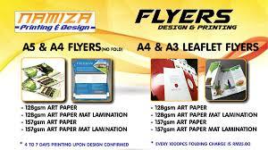 paper flyer namiza print shop cyberjaya