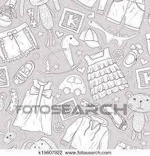 かわいい パタパタという音 で おもちゃ そして 衣服 クリップアート切り張りイラスト絵画集