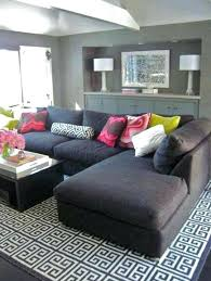dark gray couch what color rug goes with a grey couch geometric sofa google regard to
