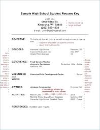 resume for high school students examples sample resume high school student generalresume org
