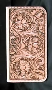 custom leather hand tooled fl checkbook cover love the pattern on this love it