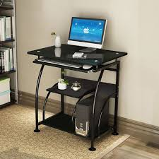 Home office computer workstation Style Star Trek Home Office Computer Desk Pc Corner Laptop Table Workstation Furniture Black Picclick Home Office Computer Desk Pc Corner Laptop Table Workstation