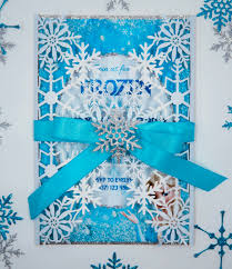 Snowflake Birthday Invitations Frozen Birthday Invitation Snowflake Laser Cut Createve