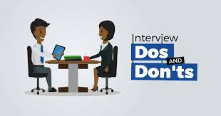 The Do S And Don Ts Of An Interview Interview Dos And Donts Jobberman Nigeria