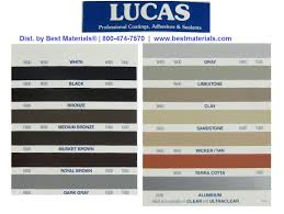 Silicone Sealant Coverage Chart Lucas 9600 High Performance Joint Sealant Specify Color Case 12