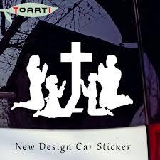 Familie Beten Im Quer Westlichen Religion Vinyl Auto Aufkleber Jesus