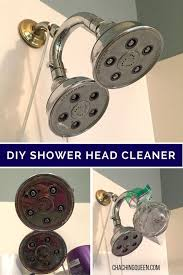 diy how to clean your shower head with vinegar natural cleaning