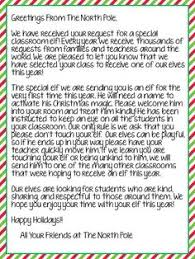 FREEBIE: Letter from The North Pole to introduce your classroom Elf!! Works  for
