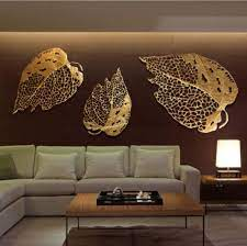 china large leaf and iron map wall art