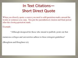 Academic Writing Direct Quotes Mla