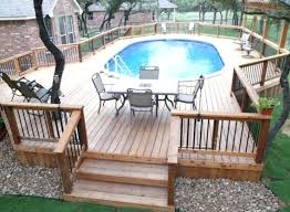 above ground pool with deck above ground pool deck ideas above ground pool deck plans pictures