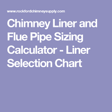Chimney Liner Chart Pin On Chimney Flue Guide