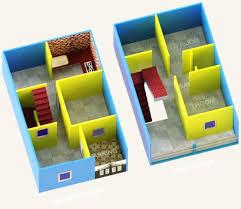 600 sq ft duplex house 3d model