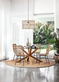 Rug under round dining table Nepinetwork Round Jute Rug Under Glass Dining Table From Freedom With Coastal Dining Chairs Pinterest Rugs Under Dining Tables Everything You Need To Know Casa Atx