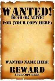 Printable Wanted Posters
