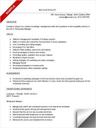 Form Of Resume Sample Restaurant Objectives For Resume Forms Of