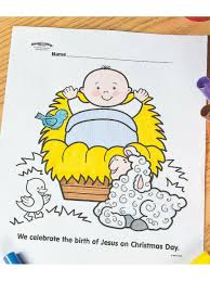 Jesus in a manger coloring page newyork rp com and baby pages. 8 Jesus Centered Christmas Crafts For Kids Fun365