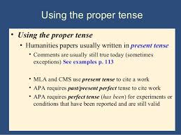 tenses are there any rules for using tenses in scientific papers