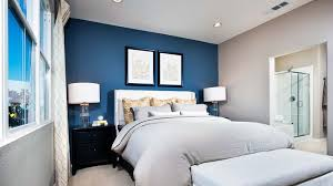 white bedroom with blue accents. Modren Bedroom Accentwall On White Bedroom With Blue Accents H