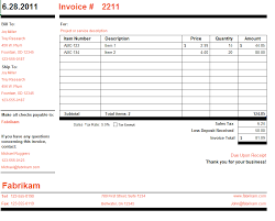 Microsoft Invoice Template Microsoft Invoice Template Free Word Templates