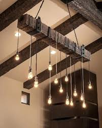 open beam ceiling lighting. Overhead Lighting Ideas Love This Clever Way Of Creating With An Exposed Beam Ceiling Open E