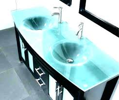 modern vanity tops sink glass for