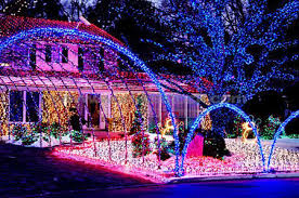 cool christmas house lighting. Perfect Christmas Multicolor Christmas Lights Decorating This House That Even Has A Shining  Blue Tree In Front I Bet One Could Be Seen From The Outer Space And Cool House Lighting