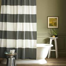 rugby stripe shower curtains white red curtain