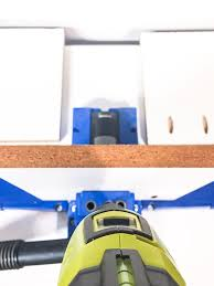 cordless drill storage. drill pocket holes in each 8\ cordless storage