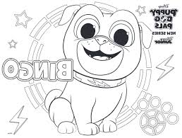 Coloring Bingo Mim5 Puppy Dog Pals Coloring Pages To Print Crafted