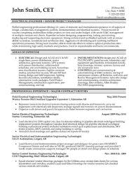 Engineering Resumes 10 Format Job Resume Info Electrical Templates