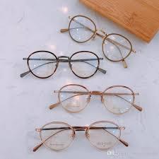 2019 vintage retro frank custom fa6138 eyeglasses pure titanium acetate frame women man brand design original box and case prescription lens from