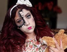scary doll face doll makeup photo 1