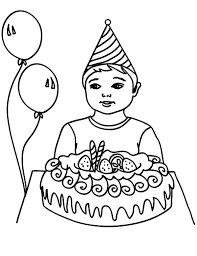 Small Picture Birthday Boy Celebrating His Birthday Colouring Page Happy Colouring