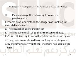 The Importance of the Passive Voice in Academic Writing - ppt download