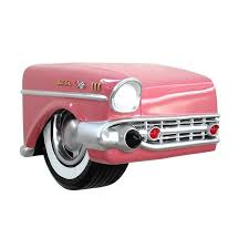 vintage 57 chevy coming out of the wall salon furniture