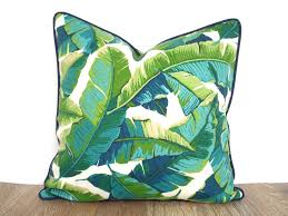 Tropical outdoor pillow case green outdoor bench cushion