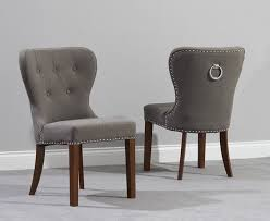 knightsbridge studded black fabric dark oak leg dining chairs pair for stylish residence dark oak dining room chairs plan
