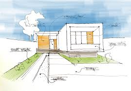 architecture houses sketch. Minimalistic House Sketch Architecture Houses