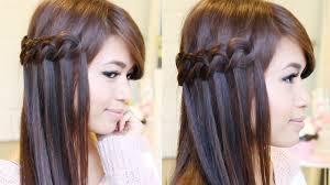 Hairstyle Waterfall knotted loop waterfall braid hairstyle hair tutorial youtube 2391 by stevesalt.us