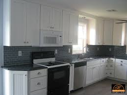 Crown Moulding Cabinets Retrofitting Kitchen For Over The Range Microwave