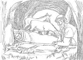 Small Picture Nativity Coloring Pages