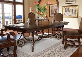scrolled metal dining table
