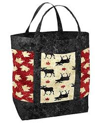 110 best Canada sew images on Pinterest | Canada, Kid stuff and ... & Tote Bag (Oh Canada) - Mighty Moose Bag Kit - Sew Sisters Online Store  featuring quilt fabric, Block-of-the-Month programs, Quilt Kits, Patterns,  ... Adamdwight.com