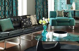 Amazing Teal Room Designs And Black Abstract Background